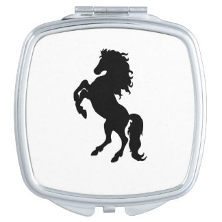 Majestic Black Stallion / Horse Compact Mirror