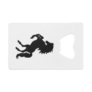 Majestic Black Stallion / Horse Credit Card Bottle Opener