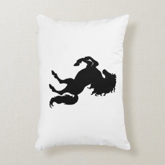 Majestic Black Stallion / Horse Decorative Pillow