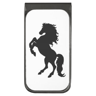 Majestic Black Stallion / Horse Gunmetal Finish Money Clip
