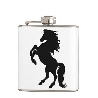 Majestic Black Stallion / Horse Hip Flask