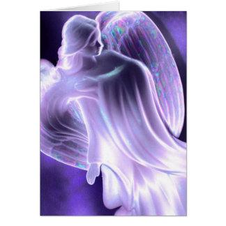 Majestic Blue  Angel Card