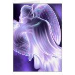 Majestic Blue  Angel Greeting Card