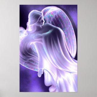 Majestic Blue Angel Poster