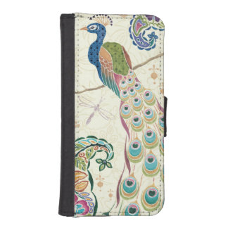 Majestic Blue Peacock Phone Wallet Case