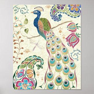 Majestic Blue Peacock Print