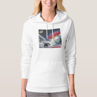 Majestic breaching whale hoodie