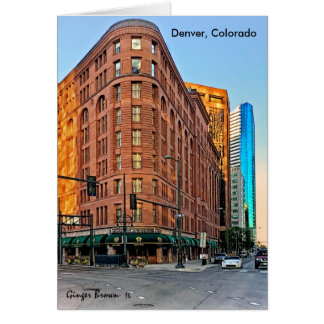 Majestic Brown Palace Hotel At Sunset, Denver, CO Card