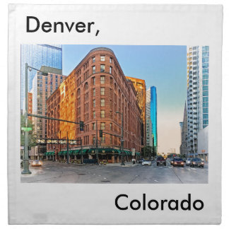 Majestic Brown Palace Hotel At Sunset, Denver, CO Cloth Napkin