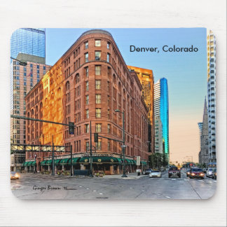 Majestic Brown Palace Hotel At Sunset, Denver, CO Mouse Pad
