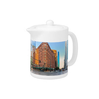 Majestic Brown Palace Hotel At Sunset, Denver, CO Teapot