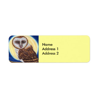 Majestic Brown Spotted Owl Moon Label