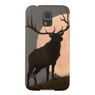 Majestic Bull Elk and Full Moon Rise Galaxy S5 Case