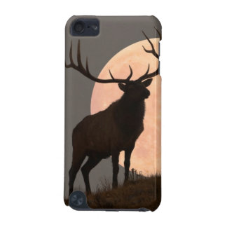 Majestic Bull Elk and Full Moon Rise iPod Touch 5G Case