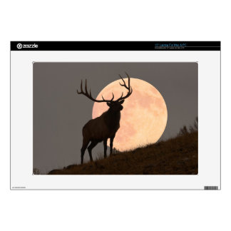 "Majestic Bull Elk and Full Moon Rise Skins For 15"" Laptops"
