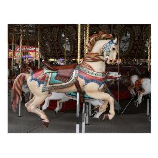 Majestic carousel horse. postcard