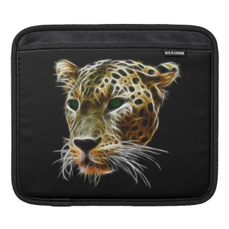 Majestic Cat Leopard Head iPad Sleeve