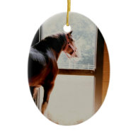 Majestic Clydesdale Christmas Tree Ornament
