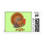 Majestic Colorful Male Turkey Postage