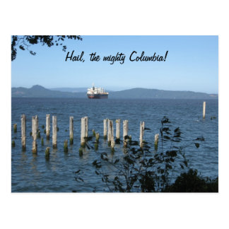 majestic Columbia River  from Astoria OR, postcard