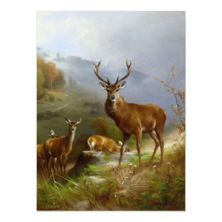 Majestic Deer ~ 6.5x8.75 Paper Invitation Card