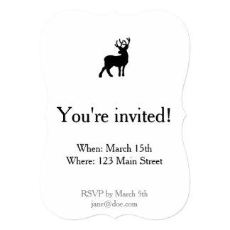 Majestic Deer Silhouette - Black Card