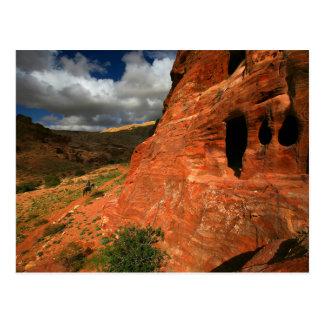 Majestic desert landscape design postcard
