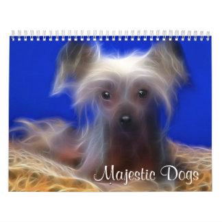 Majestic Dogst, Fractualius Digital Dog Pictures Calendar