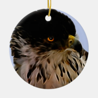 Majestic eagle ceramic ornament