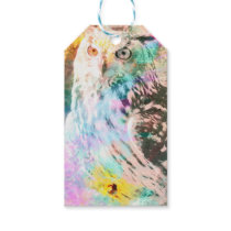 Majestic Eagle Owl Digital Watercolor Gift Tags