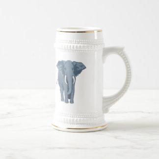 Majestic Elephant Beer Stein