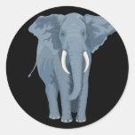Majestic Elephant Classic Round Sticker