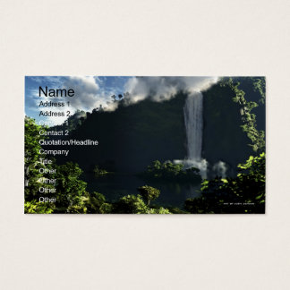 Majestic Falls Business Card Template