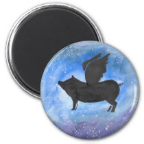 Majestic Flying Pig Magnet