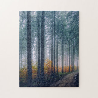 Majestic Forest Path Jigsaw Puzzle