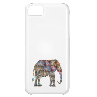 Majestic Friendly Animal : Elephant Marble Tiles Cover For iPhone 5C