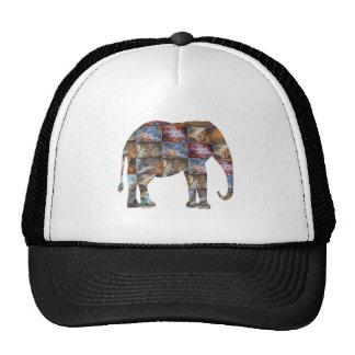 Majestic Friendly Animal : Elephant Marble Tiles Trucker Hat