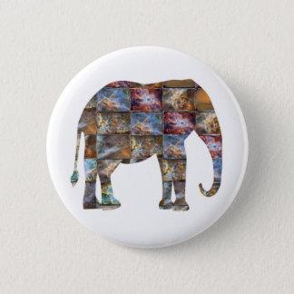 Majestic Friendly Animal : Elephant Marble Tiles Pinback Button