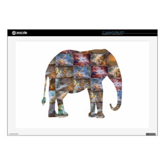 Majestic Friendly Animal : Elephant Marble Tiles Laptop Decal