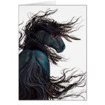 Majestic Friesian Horse Art by BiHrLe Card