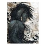 Majestic Friesian Horse by Bihrle Postcard