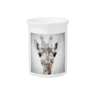 Majestic Giraffe Portrayed multiproduct selected Drink Pitcher