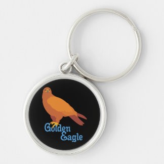 Majestic Golden Eagle Keychain