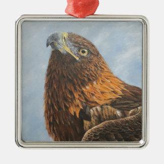 Majestic Golden Eagle Metal Ornament