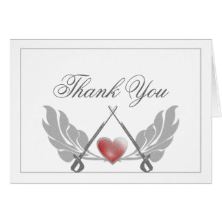 Majestic Guarded Heart Thank You Stationery Note Card