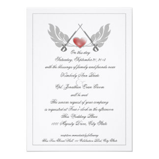 Majestic Guarded Heart Wedding Card