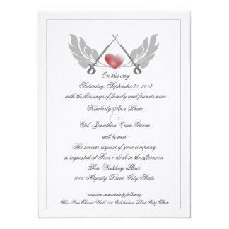 Majestic Guarded Heart Wedding Card