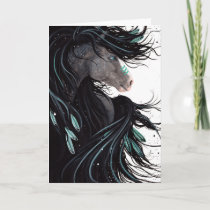 Majestic Horse Art by Bihrle Holiday Card