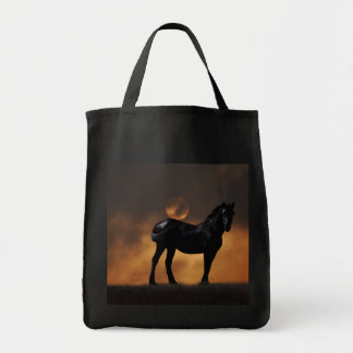 Majestic horse grocery tote bag