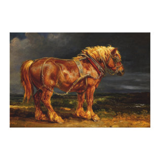 Majestic Horse by James Ward (1769-1859) replica Canvas Print